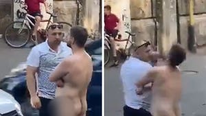 Naked Man Blocking Traffic Gets Knocked Out Cold