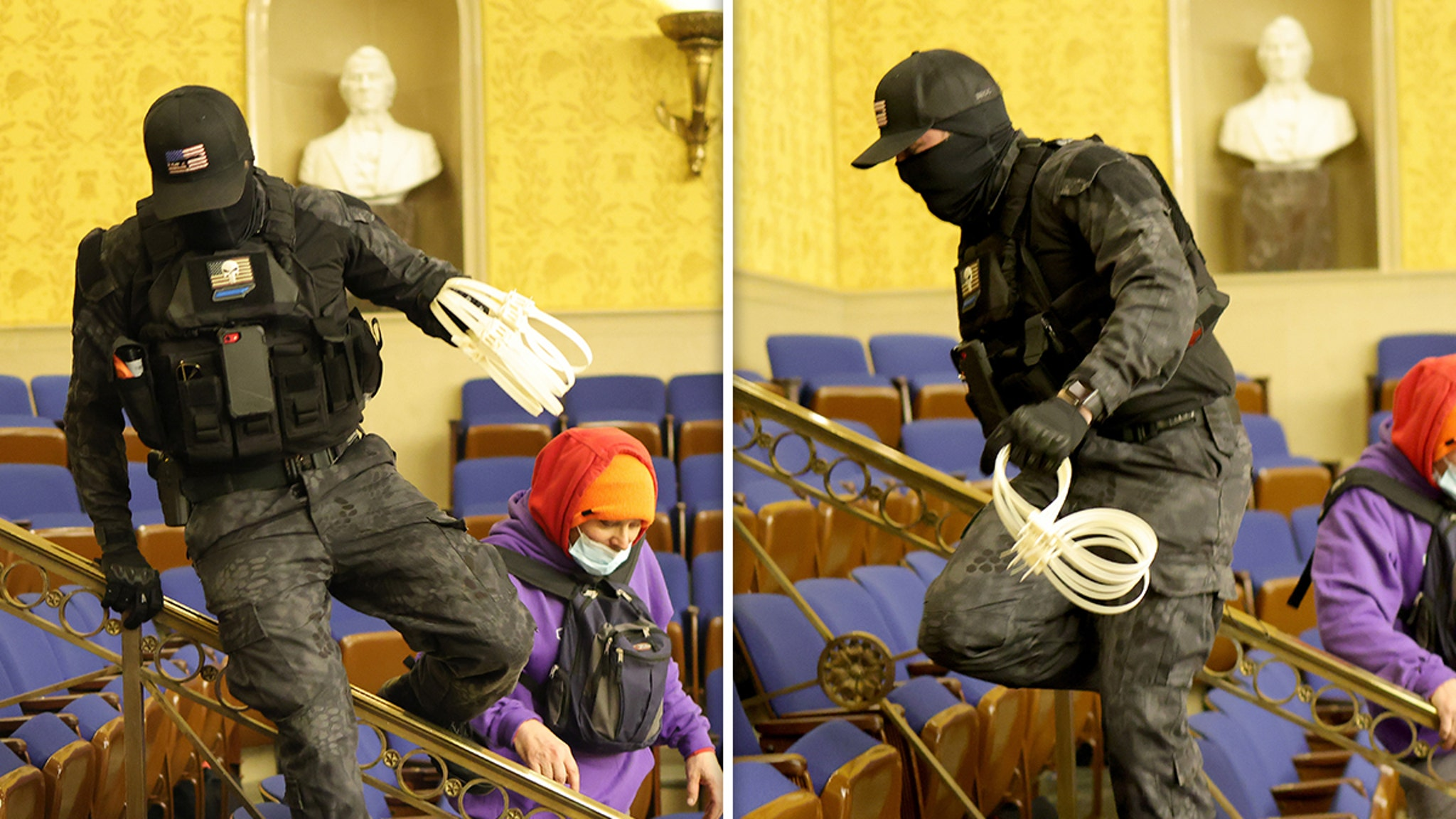 Capitol Rioters with Zip Ties Suggest Plan to Take Hostages