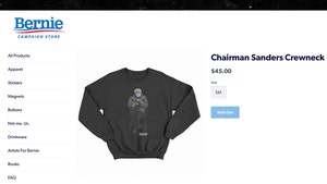 Bernie Sanders Inauguration Meme Sweatshirts Sell Out Fast