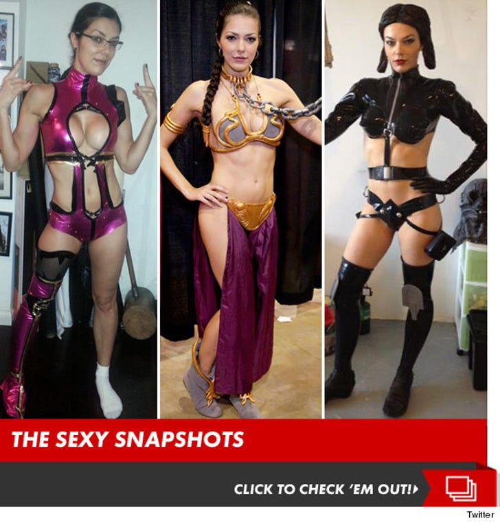 Adrianne Curry's Sexy Comic-Costumes