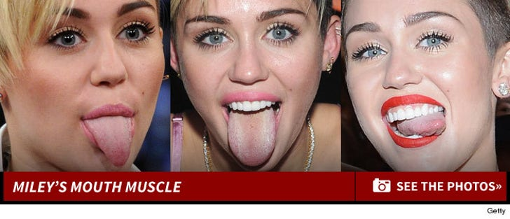 Miley Cyrus' Mouth Muscle