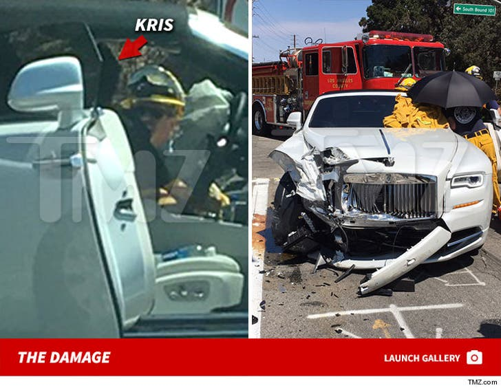 Kris Jenner -- Car Accident Scene