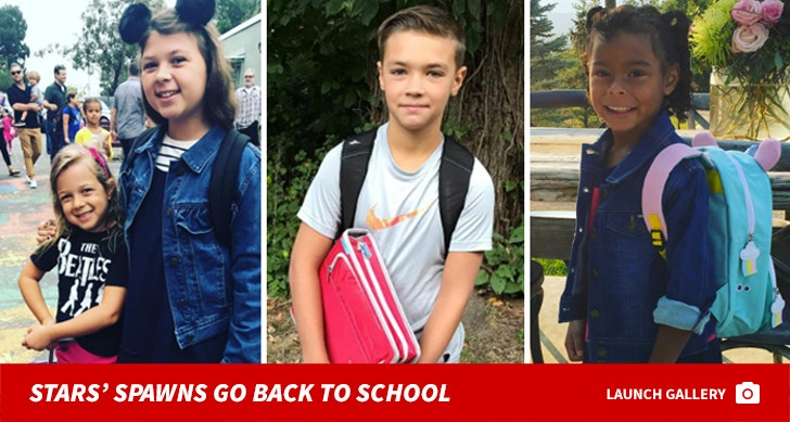 Celeb Cute Kids Go Back To School