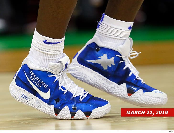 Zion Williamson Rocks Nike Shoes at L.A