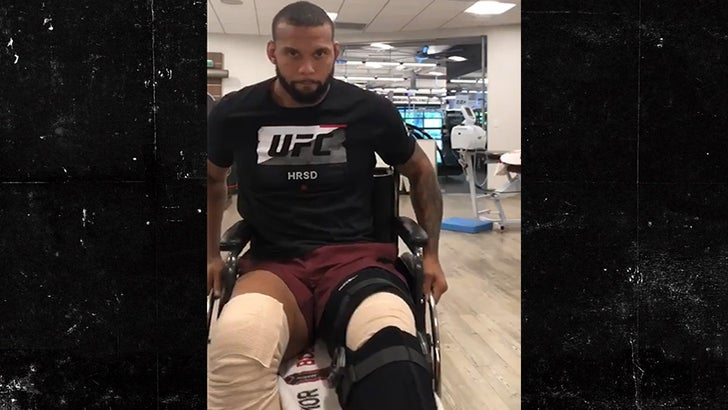 UFC's Thiago Santos In Tremendous Pain After Surgery from