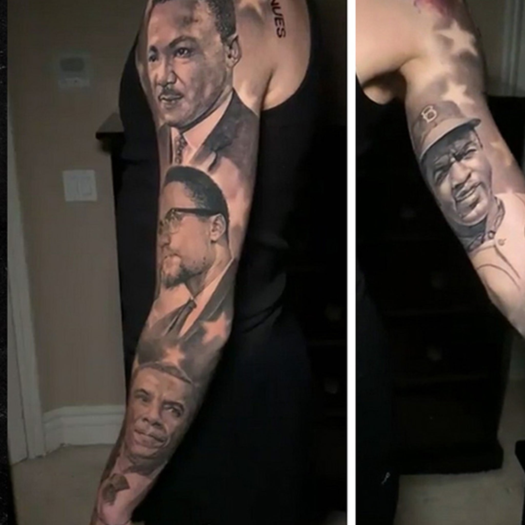 Lonzo Ball Gets Historical Figures Tatted On Arm Insanely Realistic