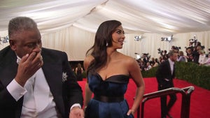 Kim Kardashian & Kanye West Touched By Famous BOOGER at Met Gala [VIDEO]
