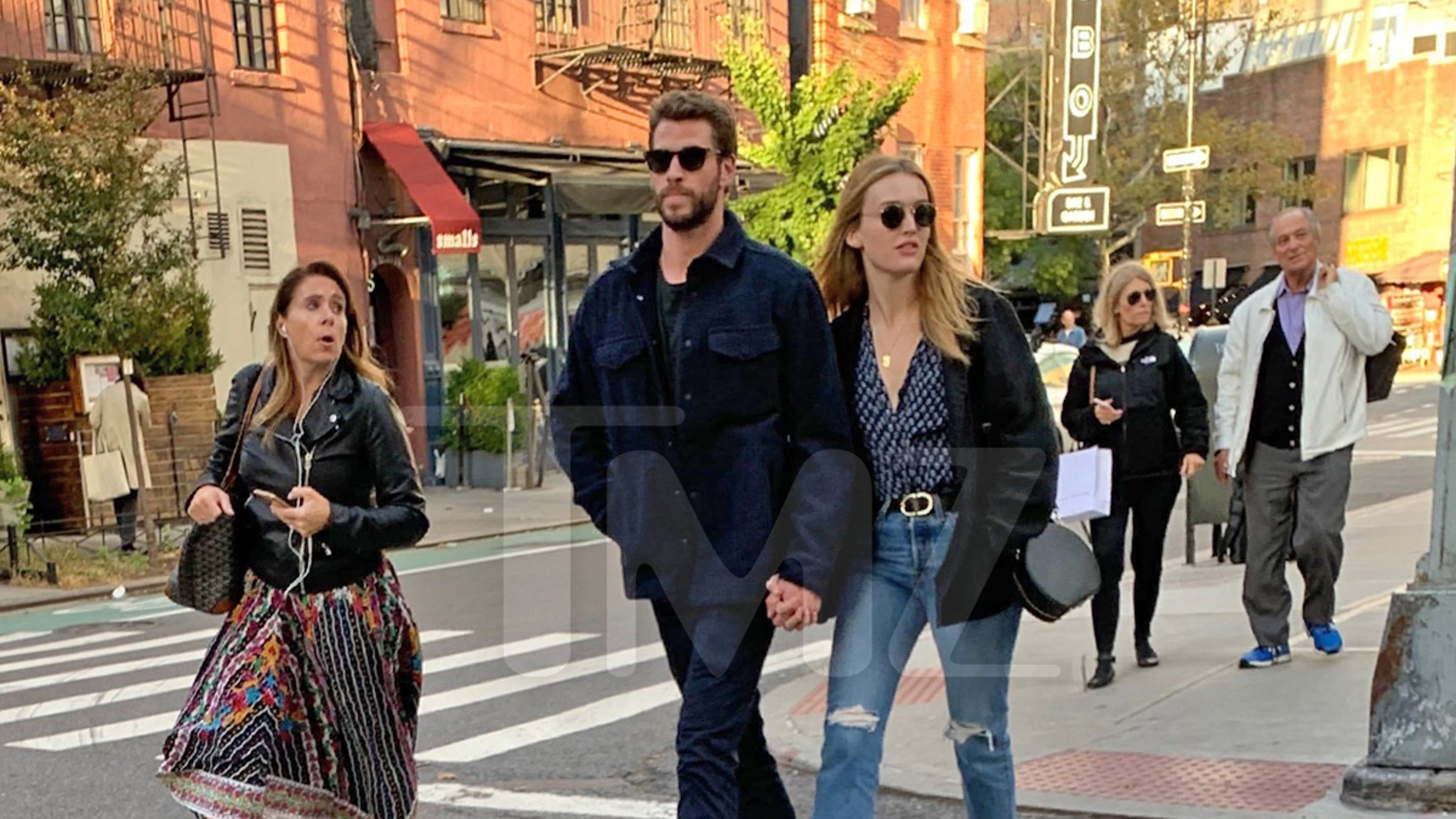 Liam Hemsworth Holds Hands with Mystery Girl in NYC
