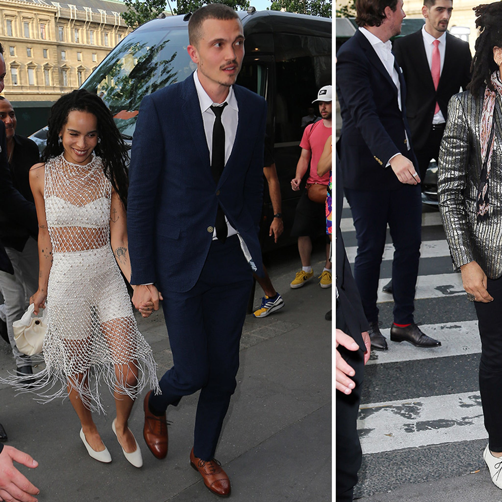 Zoe Kravitz Hits Up Her Pre Wedding Bash With Mom And Dad