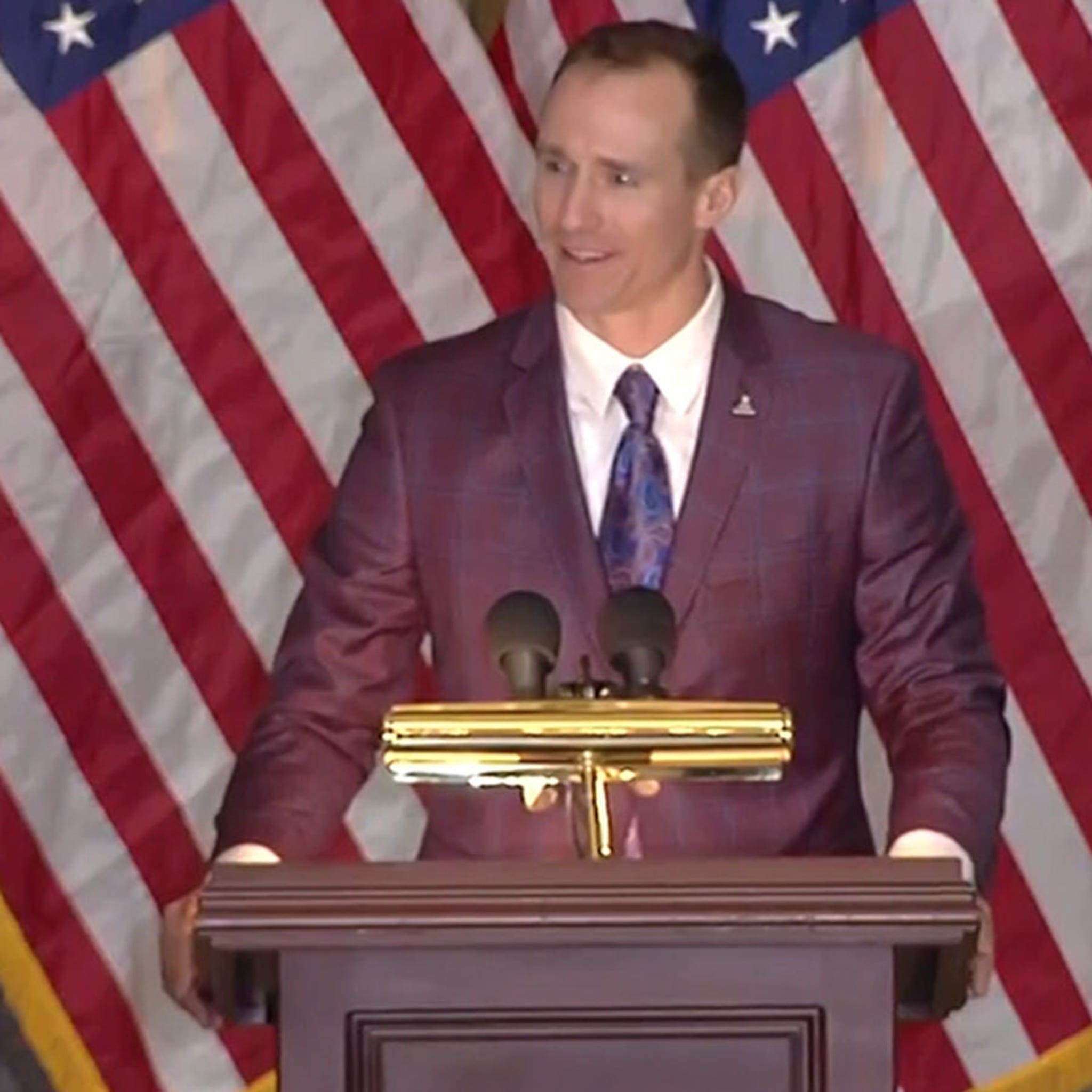 Drew Brees Fights Back Tears At Steve Gleason's Congressional Gold Medal Ceremony