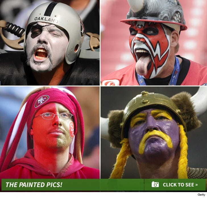 Pigskin and Paint -- Fans Showing Their True Colors!