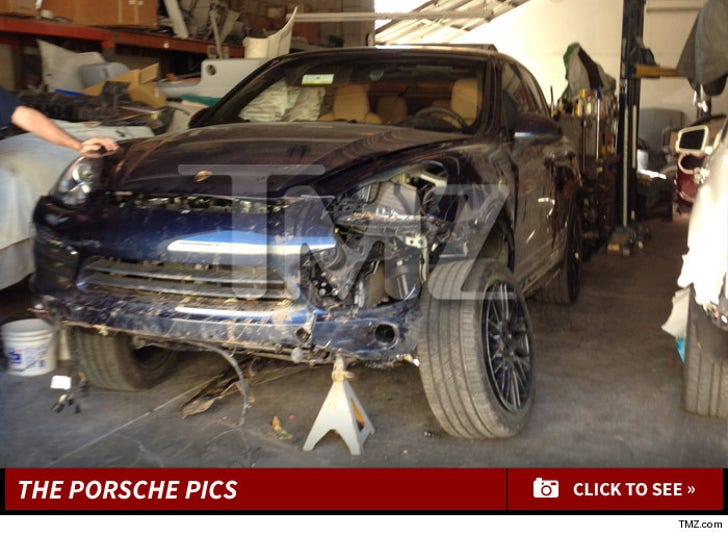 Arsenio Hall's Crashed Porsche