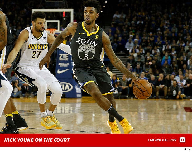 Nick Young on the Court