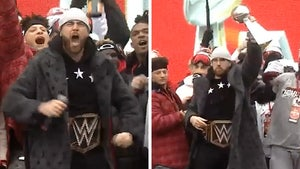 Travis Kelce Goes Full WWE Superstar, Gives Epic Speech At Chiefs Parade