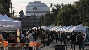 Katherine Schwarzenegger Begs L.A. Mayor to Close Packed Farmer's Market, He Does