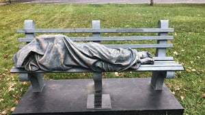 Cops Called on 'Homeless Jesus' Statue