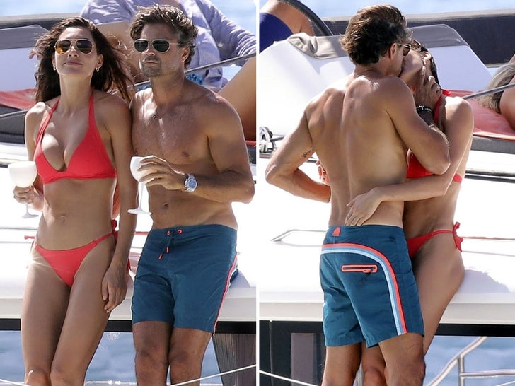David Charvet Posts Up with Mystery Bikini Babe in St. Barts
