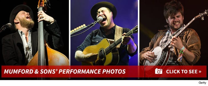 Mumford And Sons' Live Performance Photos