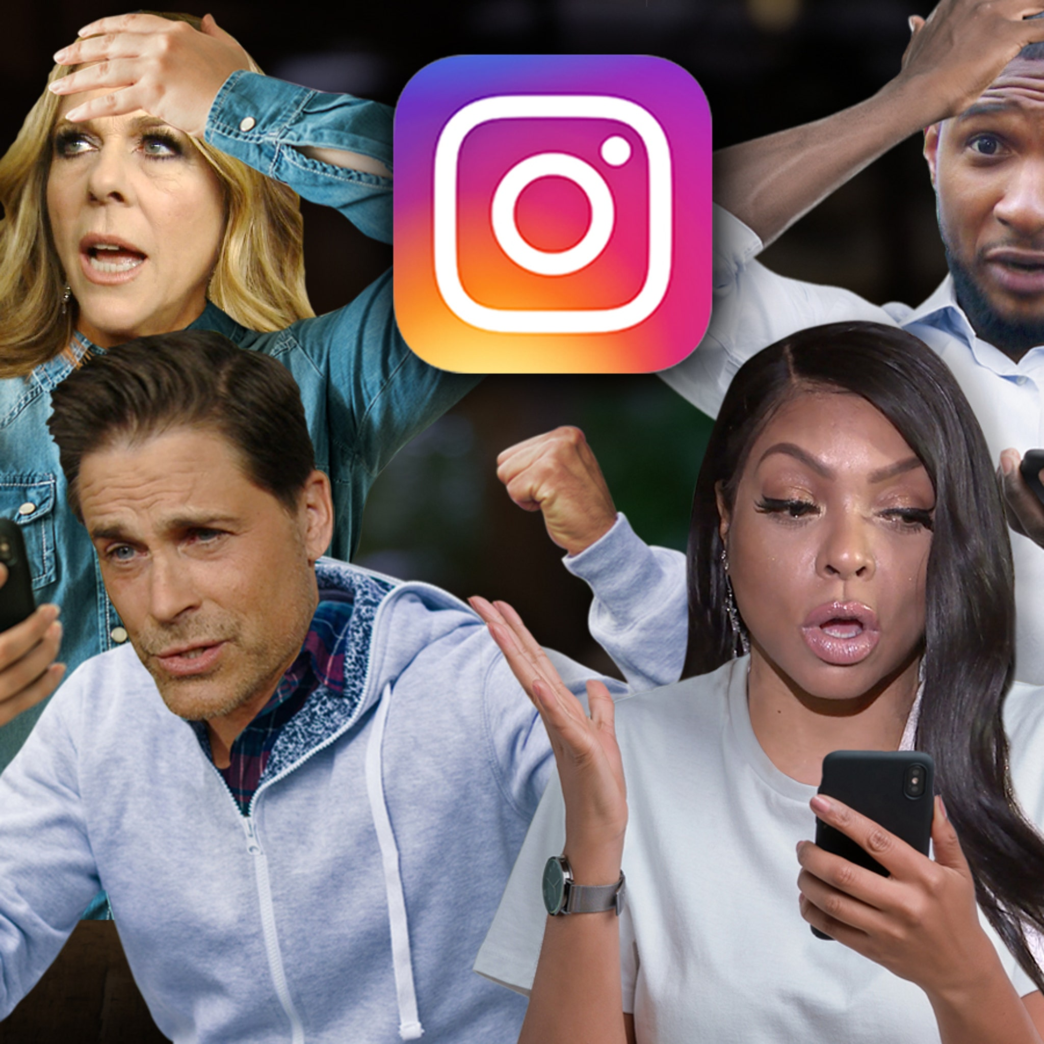 Rob Lowe, Usher & Other Celebs Fall for Viral Instagram Hoax