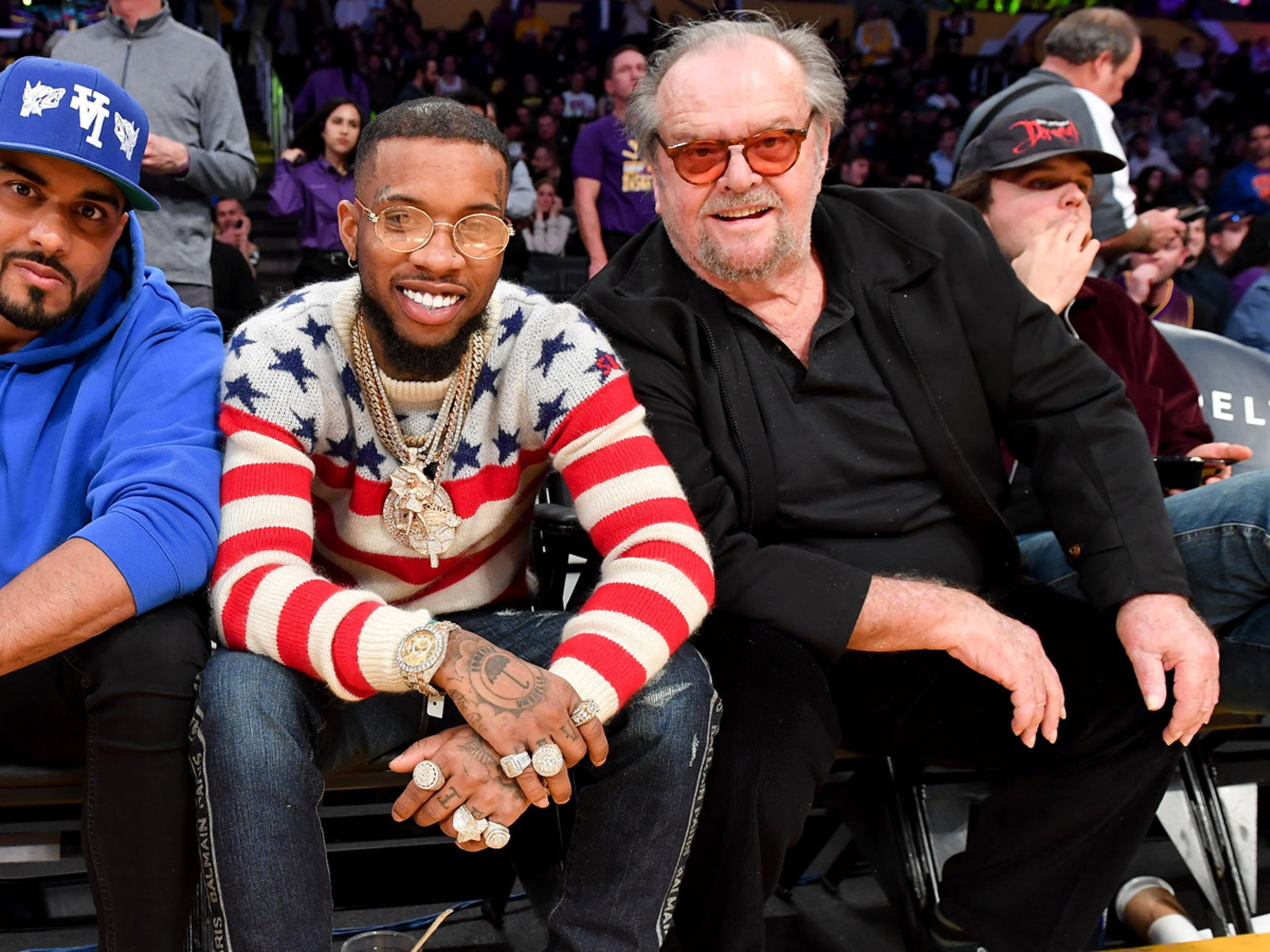 Jack Nicholson Bros Out With Tory Lanez At Lakers Game Jack nicholson and his youngest son, ray nicholson, stepped out for a rare public appearance saturday evening in the hamptons. jack nicholson bros out with tory lanez