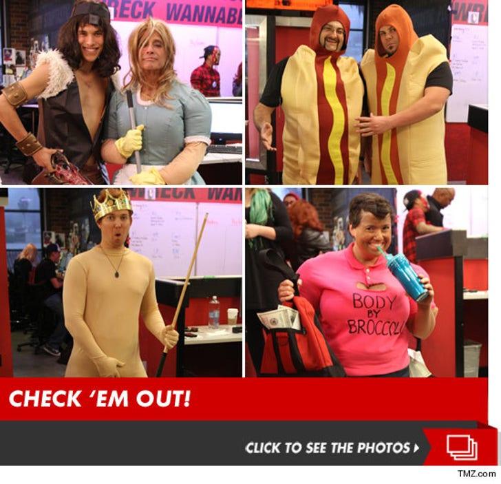 TMZ Staff Costumes -- Trick or Treat?!
