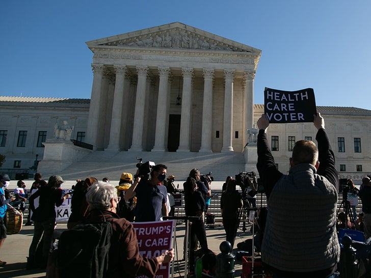Protesters Outside The US Supreme Court