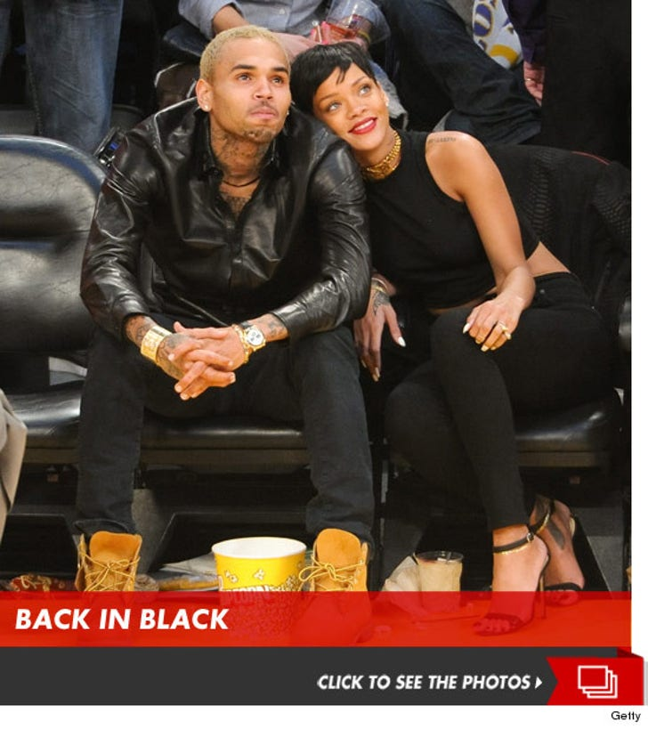 Chris Brown and Rihanna -- Together at Lakers Game
