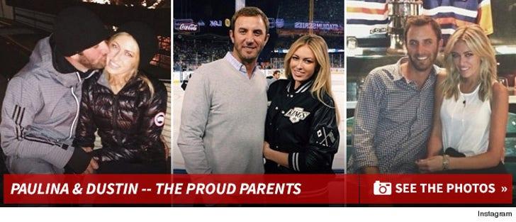 Paulina Gretzky & Dustin Johnson -- The Proud Parents