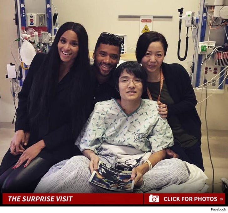 Russell Wilson & Ciara -- The Hospital Visit Photos
