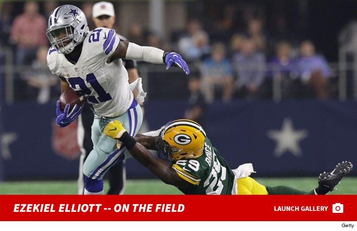 Ezekiel Elliott -- On the Field