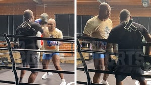 Mike Tyson Throws Violent 5-Punch Combo During Training for Roy Jones Jr. Fight