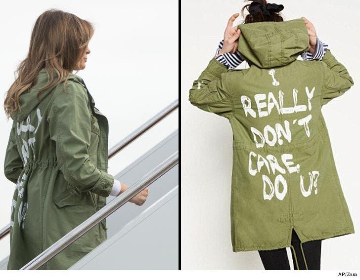 Melania Trump Wears Tone-Deaf 'I Really Don't Care' Jacket