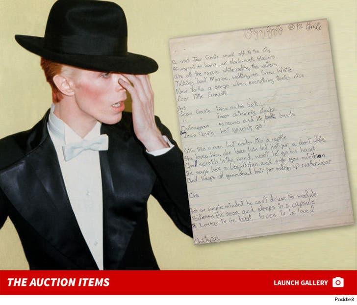 David Bowie Auction