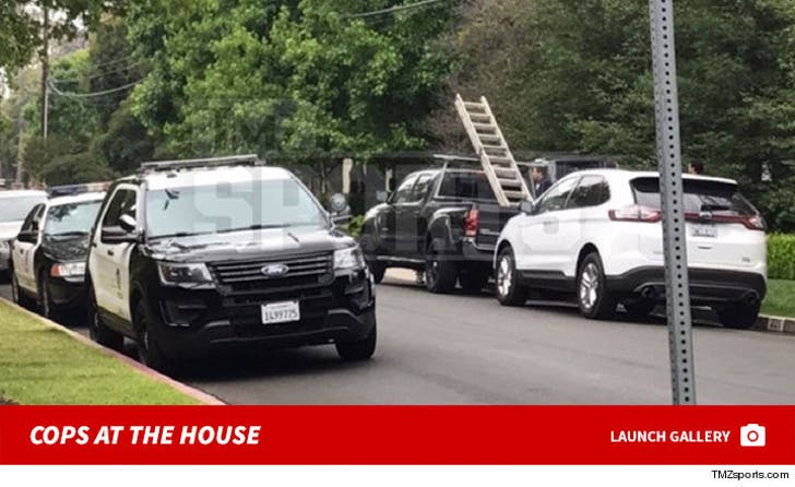 LeBron James' L.A. Home Vandalized -- Cops at the House