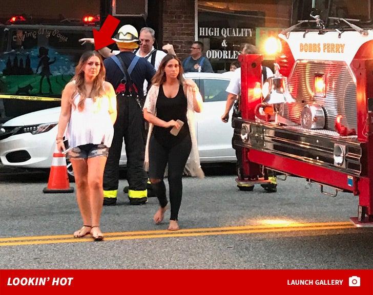 Lauren Manzo -- Salon Fire Photos