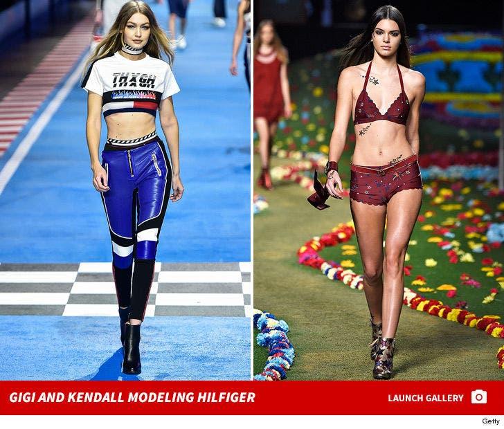 Kendall and Gigi Modeling Hilfiger