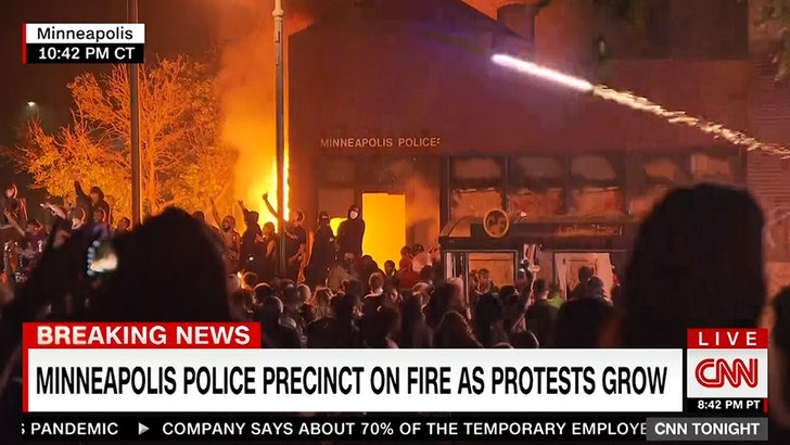 Rioters Set Minneapolis Police Station on Fire Over George Floyd ...