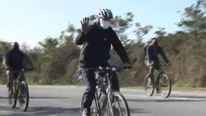 Jill and Joe Biden Take a Bike Ride During Transition