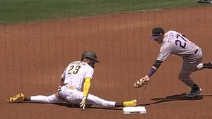 Fernando Tatis Jr. Hits Full-On Splits To Steal 2nd Base, Insane Play!