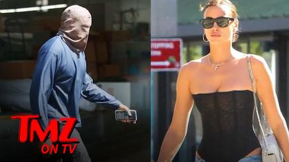 Kanye West Wears Ski-Mask Style Headwear in Heatwave, Irina Shayk Wears Less | TMZ TV.jpg