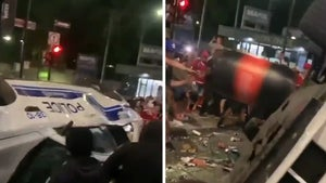 Montreal Canadiens Fans Riot After Stanley Cup Finals Berth, Smash Police Car