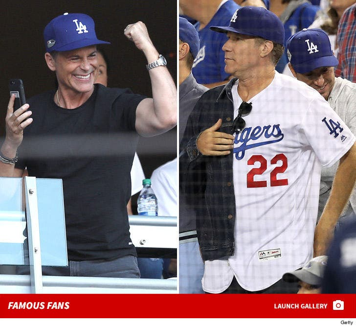 Famous Fans -- Dodgers vs. Brewers ... Game 3!