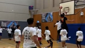 Ben Simmons Violently Dunks All Over Kids at Charity Basketball Event