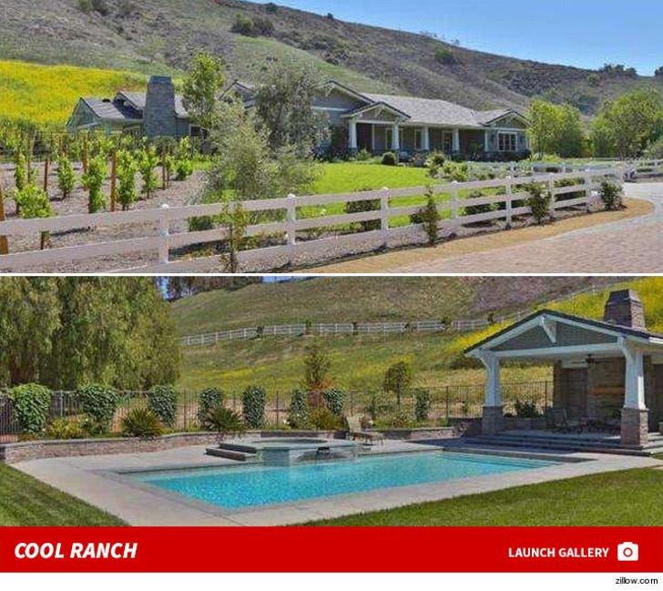 Kylie Jenner's Hidden Hills House -- Cool Ranch!