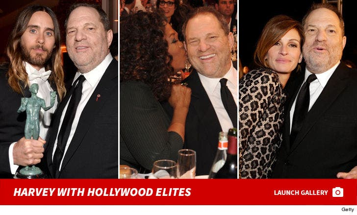Harvey Weinstein with Hollywood Elites