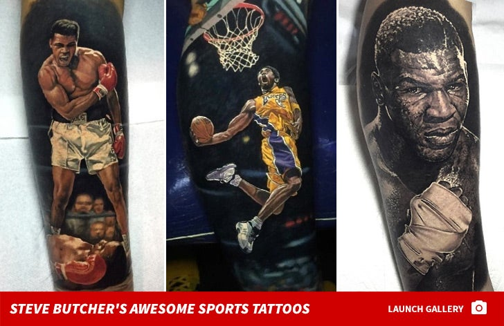 Steve Butcher's Ink-redible Sports Tattoos