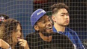 Kawhi Leonard Caught Smiling at Toronto Blue Jays Game!