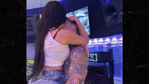 Kourtney Kardashian & Travis Barker Make Out in Studio, MGK Forced to Watch