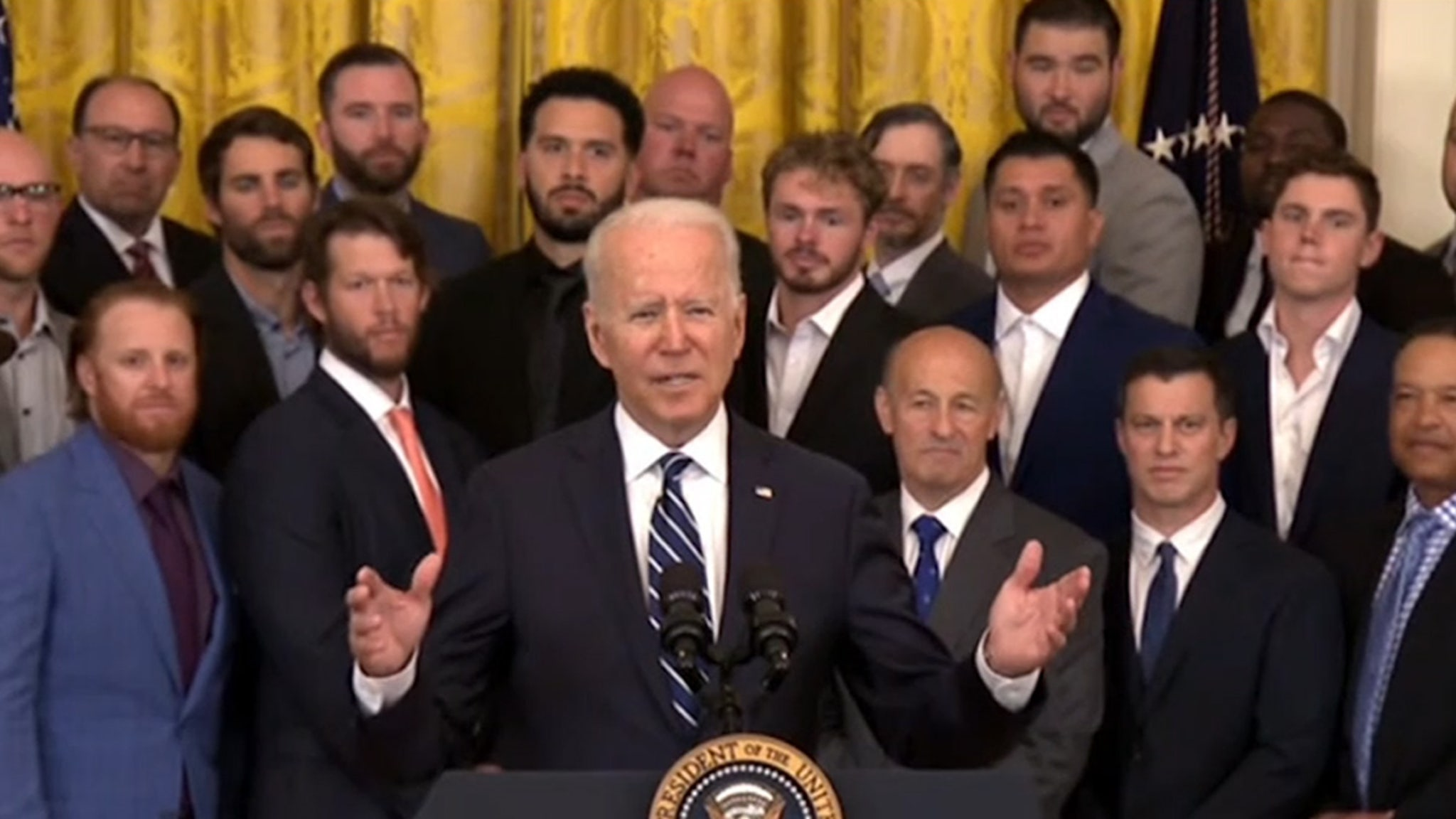 Dodgers Are First Team to Visit White House Since Pandemic Shutdown