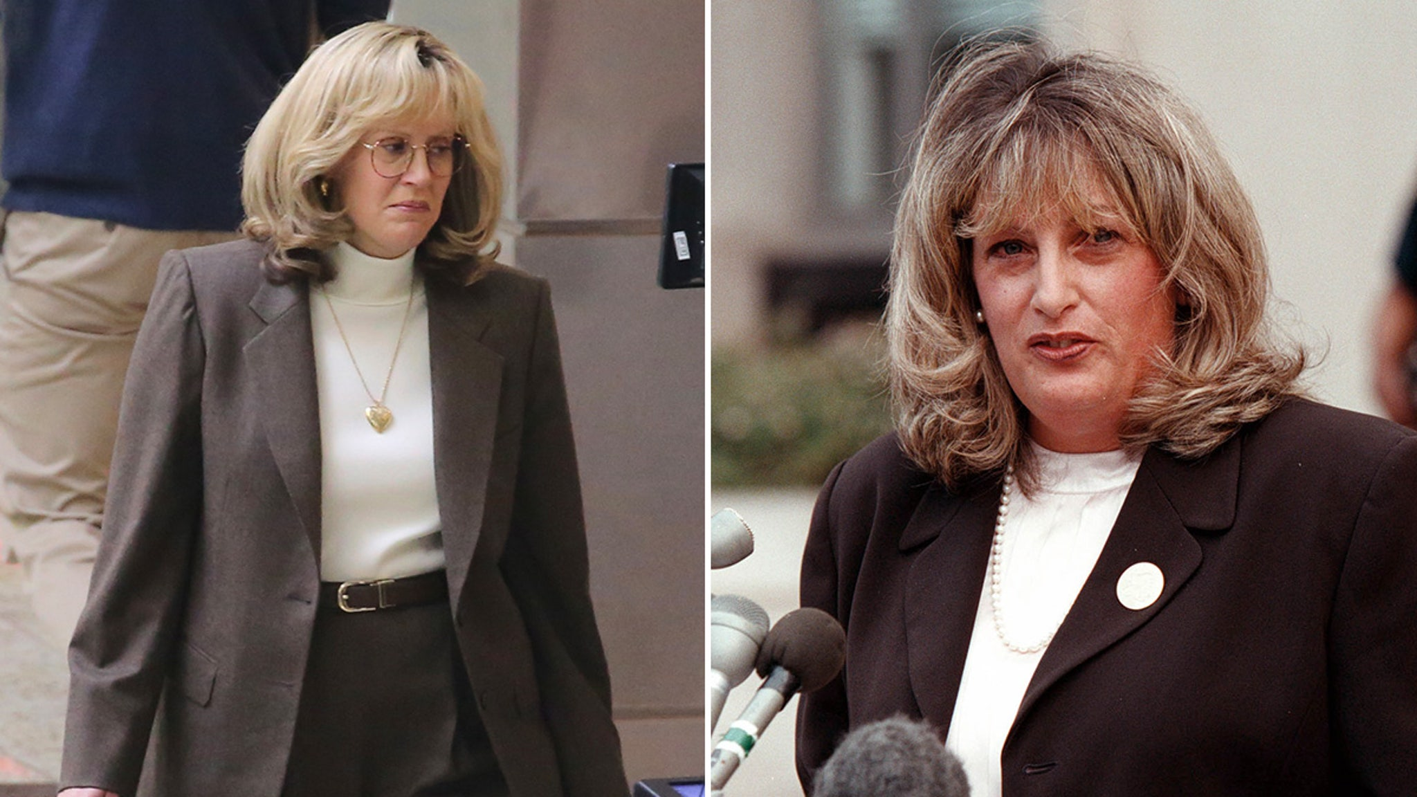 Sarah Paulson Ridiculously Dragged for Playing Linda Tripp in Fat Suit thumbnail
